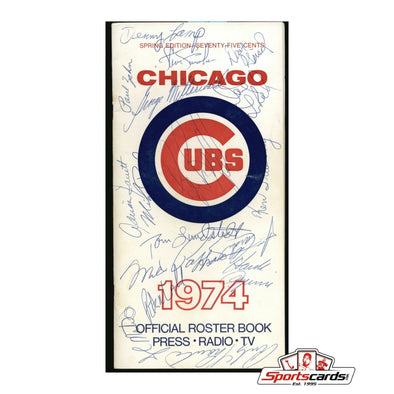 1974 Chicago Cubs Signed Press Roster Book 20 Signatures Williams Pappas