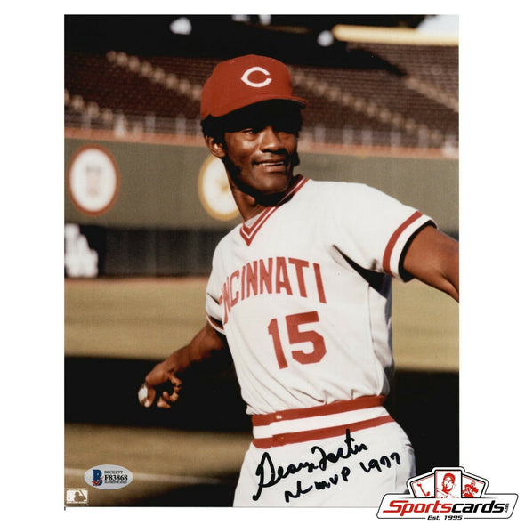 George Foster Signed 8x10 Photo Cincinnati Reds BAS Beckett Auto NL MVP 77