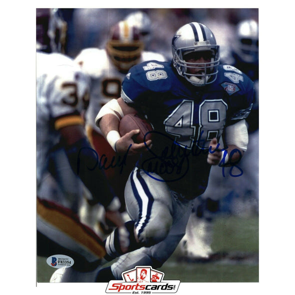 Daryl Johnston Signed 8x10 Photo BAS Beckett Auto Dallas Cowboys