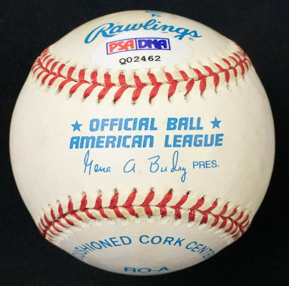 Wally Hood Signed OAL Baseball  New York Yankees 1949 Yankees PSA LOA