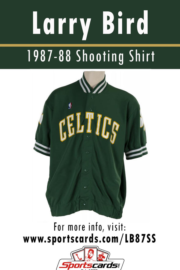 Larry Bird 1987-88 Game Worn Shooting Shirt Jersey Mystery Swatch Box