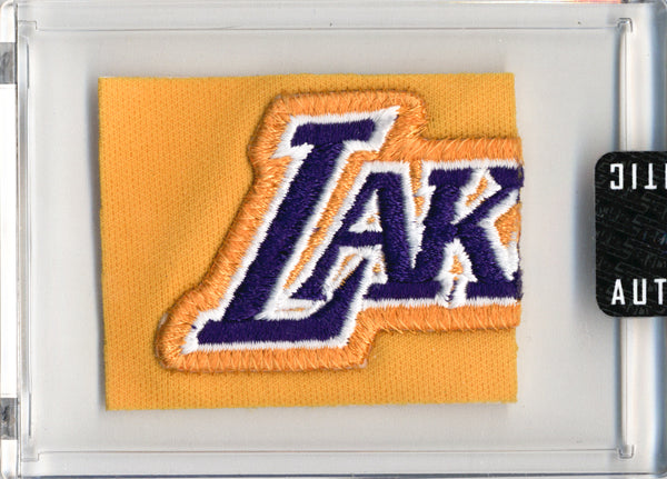 Kobe Bryant 1998-99 Game Worn L.A. Lakers Warm Up Suit Swatch Box