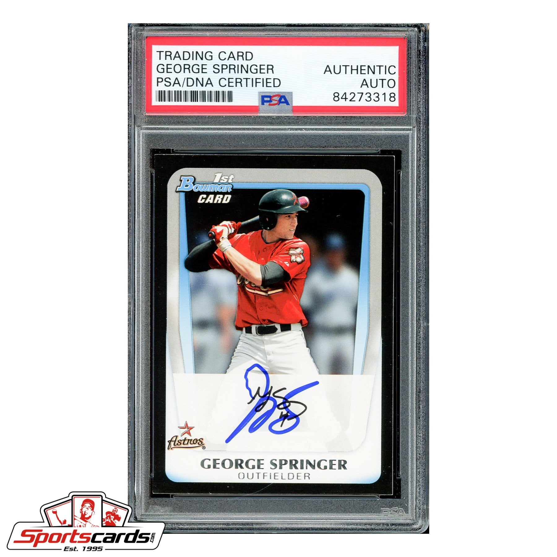 George Springer Signed Auto 2012 Bowman Draft RC #BDP81 PSA
