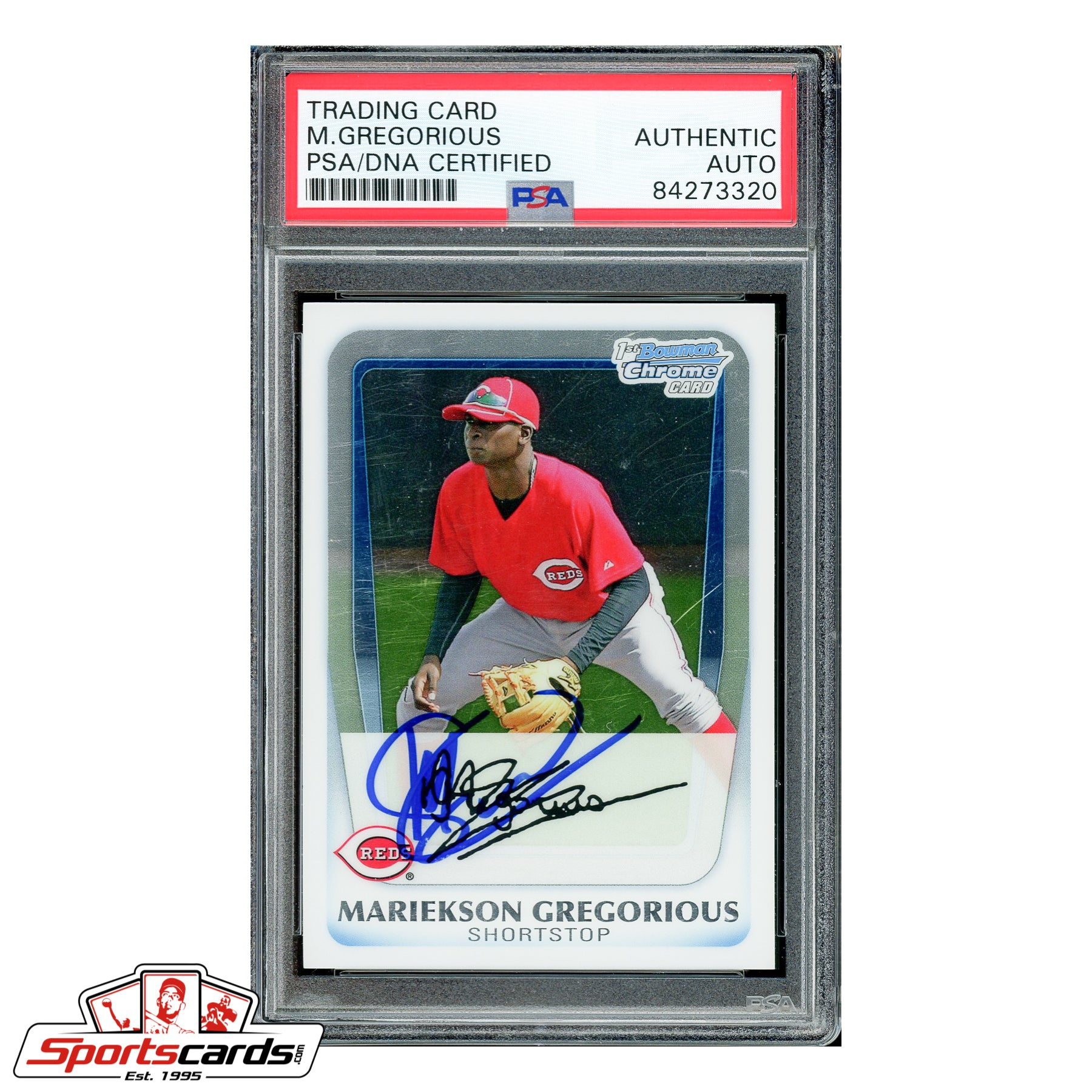 Didi Gregorious Signed Auto 2011 Bowman Chrome RC #BCP209 PSA