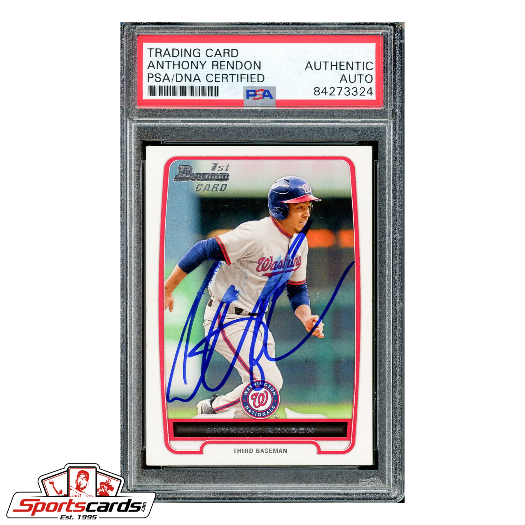 Anthony Rendon Signed Auto 2012 Bowman Draft 1st Bowman RC #BP88 PSA