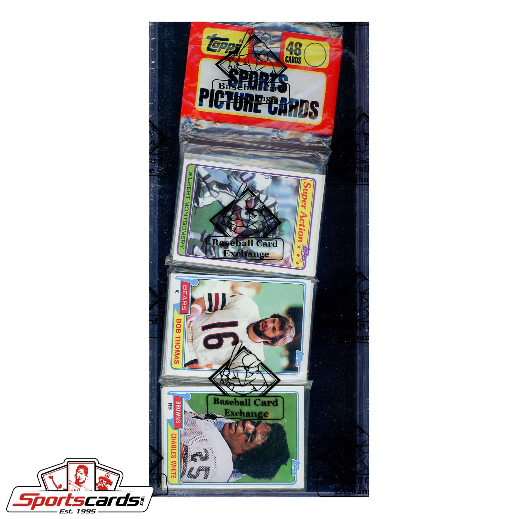 1981 Topps Football Rack Pack BBCE Certified - Possible Joe Montana RC
