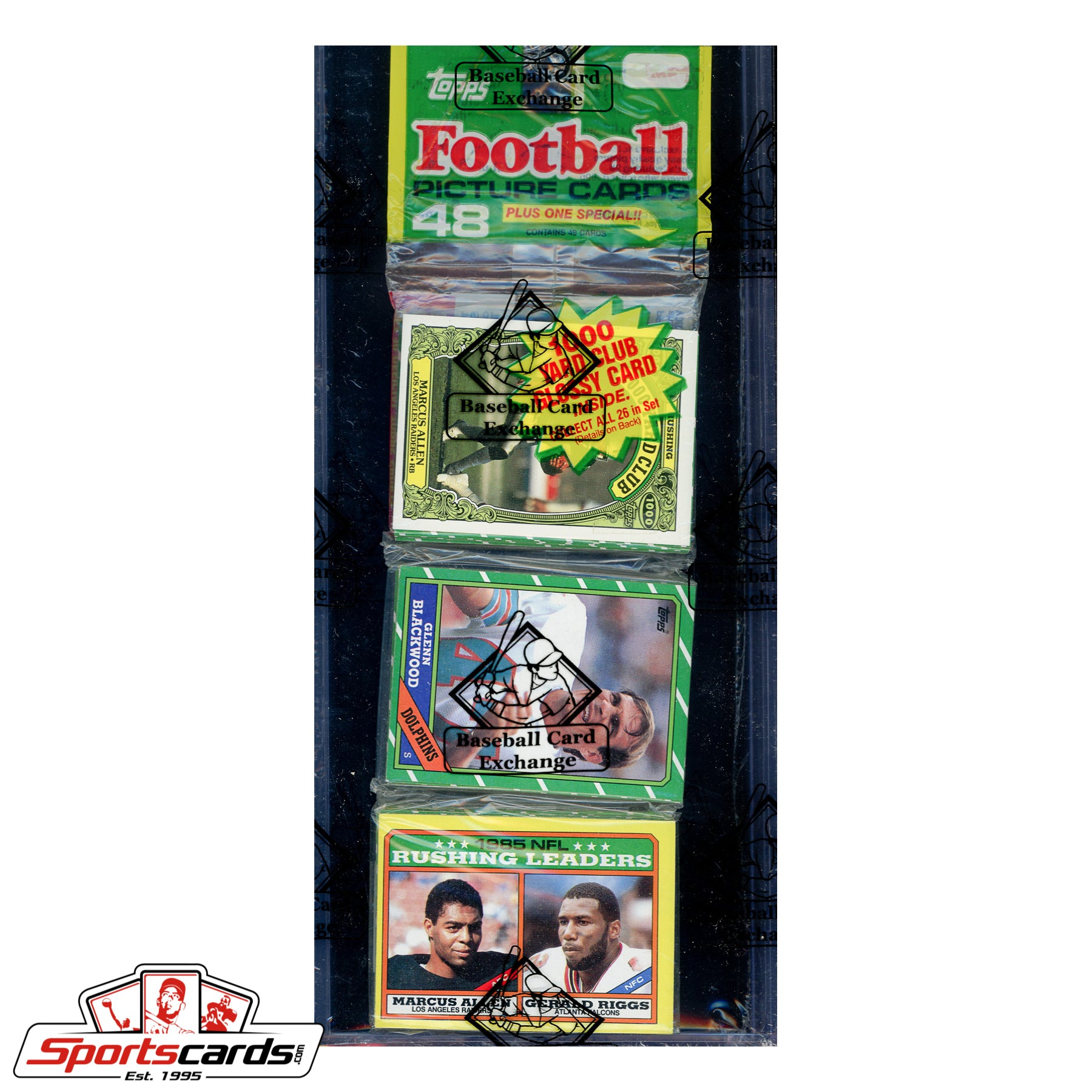 1986 Topps Football Rack Pack BBCE Certified - Jerry Rice RC on Back!
