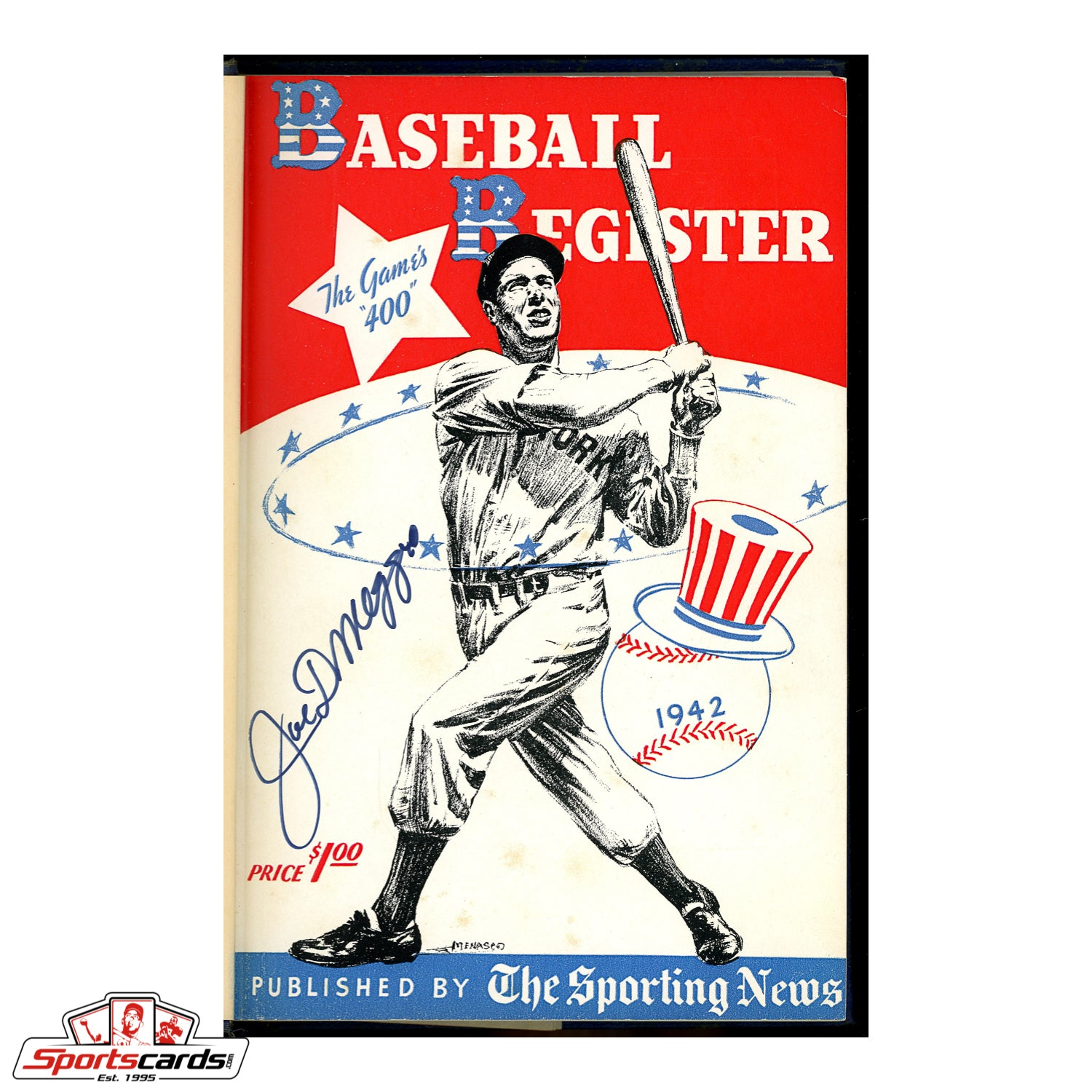 Joe DiMaggio Signed 1942 Sporting News Baseball Register Hardbound Edition - Walter Boom-Boom Beck Personal Copy - BAS LOA