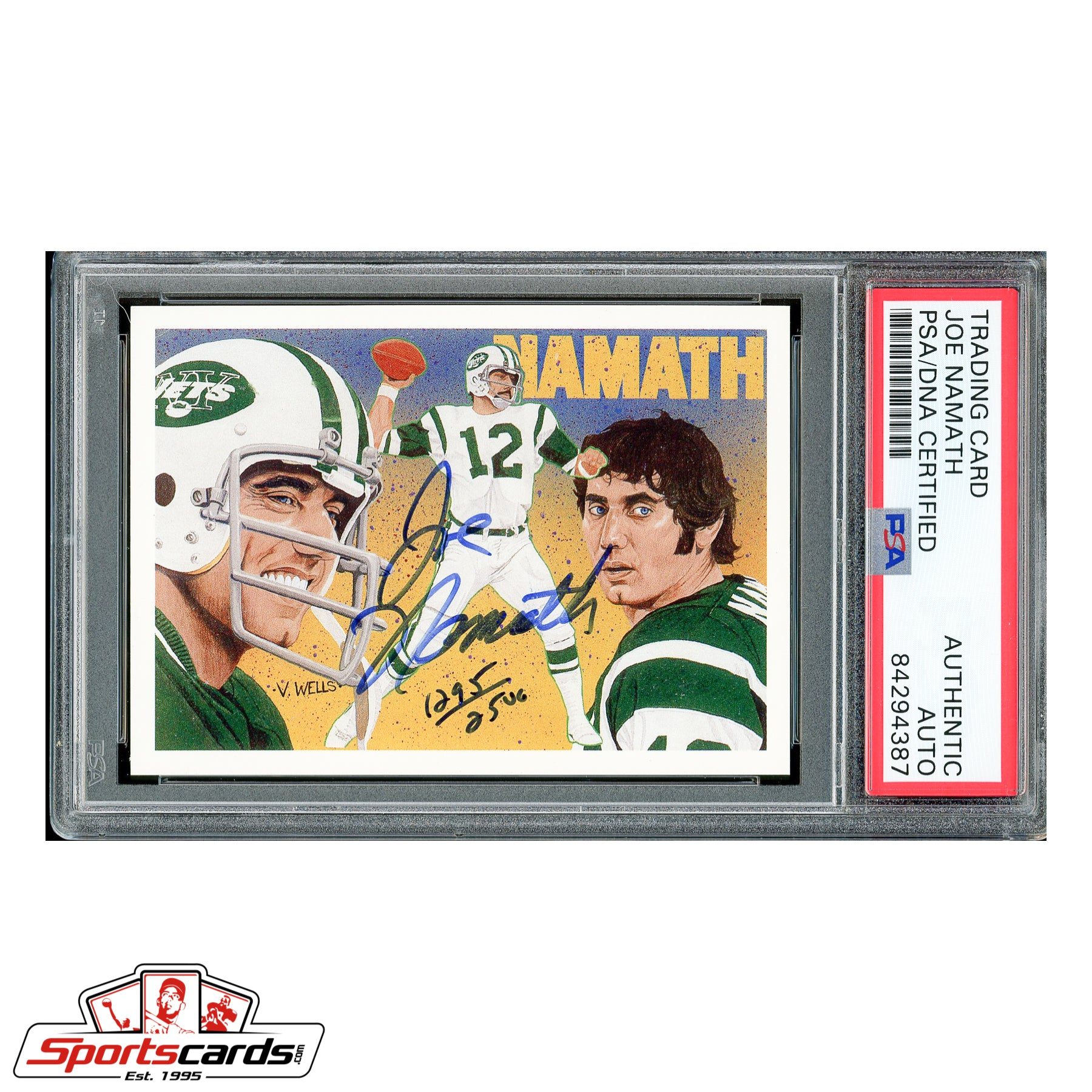 Joe Namath Signed Auto 1991 Upper Deck Heroes #18 1295/2500 - PSA/DNA