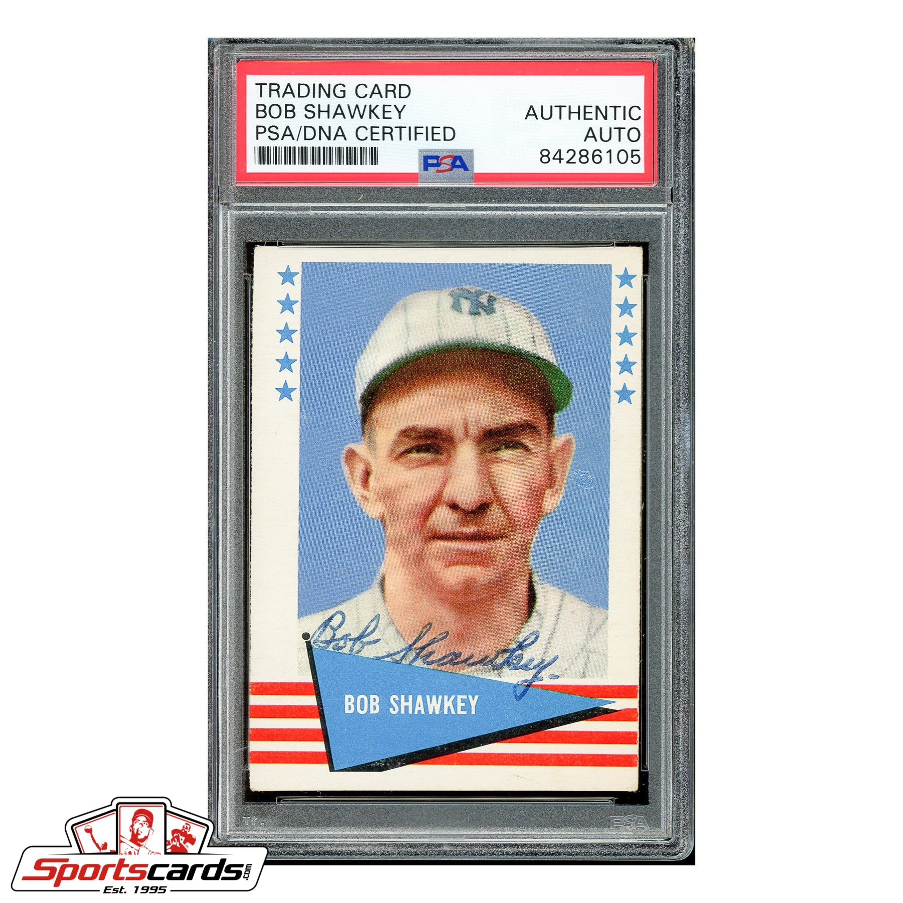 Bob Shawkey Signed Auto 1961 Fleer Card - PSA/DNA
