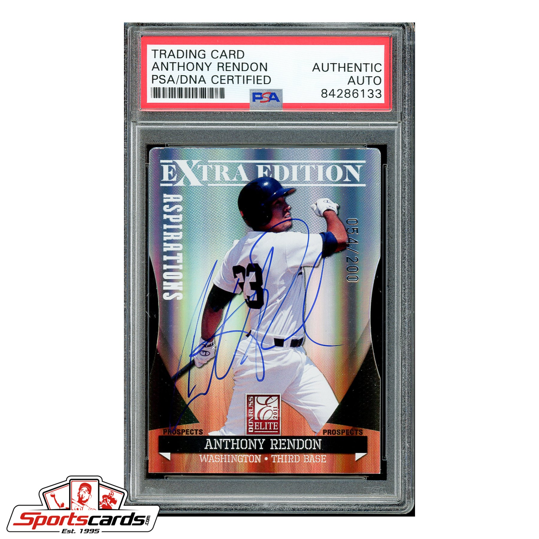 Anthony Rendon Signed Auto 2011 Donruss Elite Extra Edition Aspirations #P2 - PSA/DNA