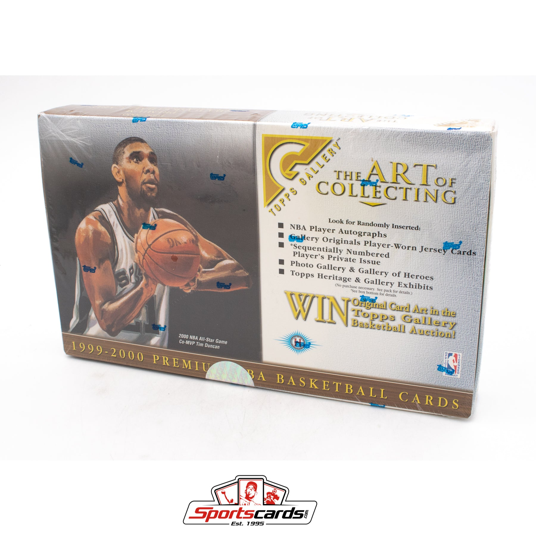 1999-2000 Topps Gallery Premium NBA Basketball Factory Sealed Hobby Box