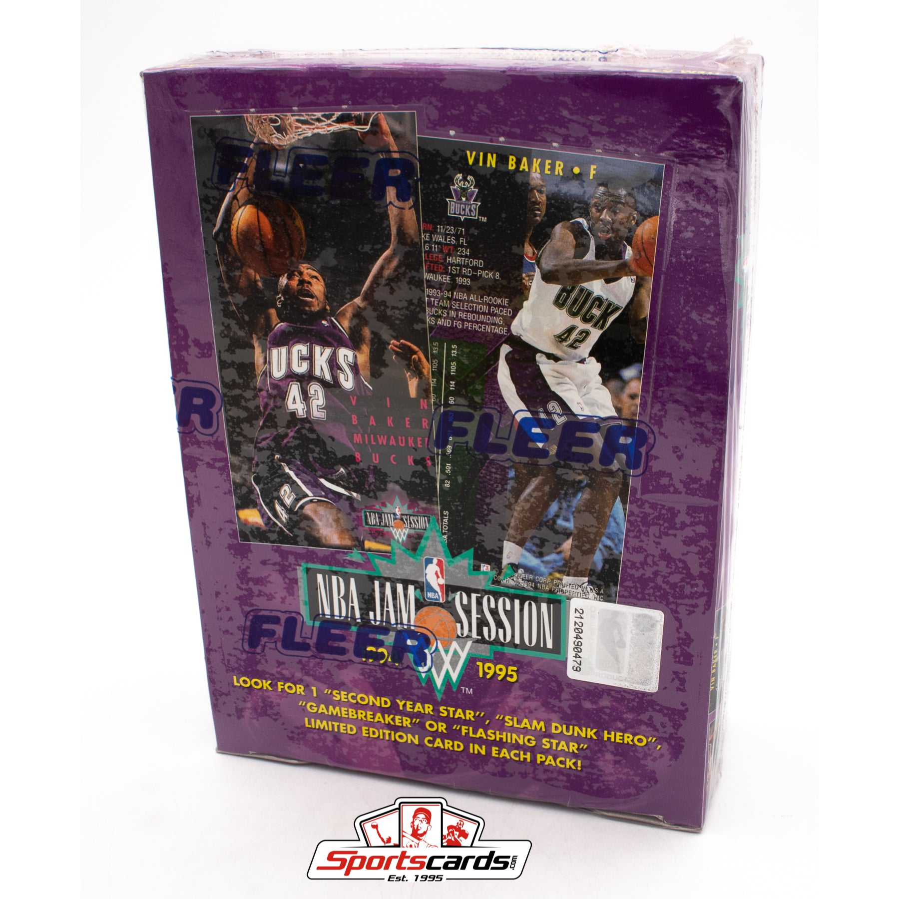 1994-95 Fleer NBA Jam Session Factory Sealed Box Kidd Hill RC Year - 36 Packs