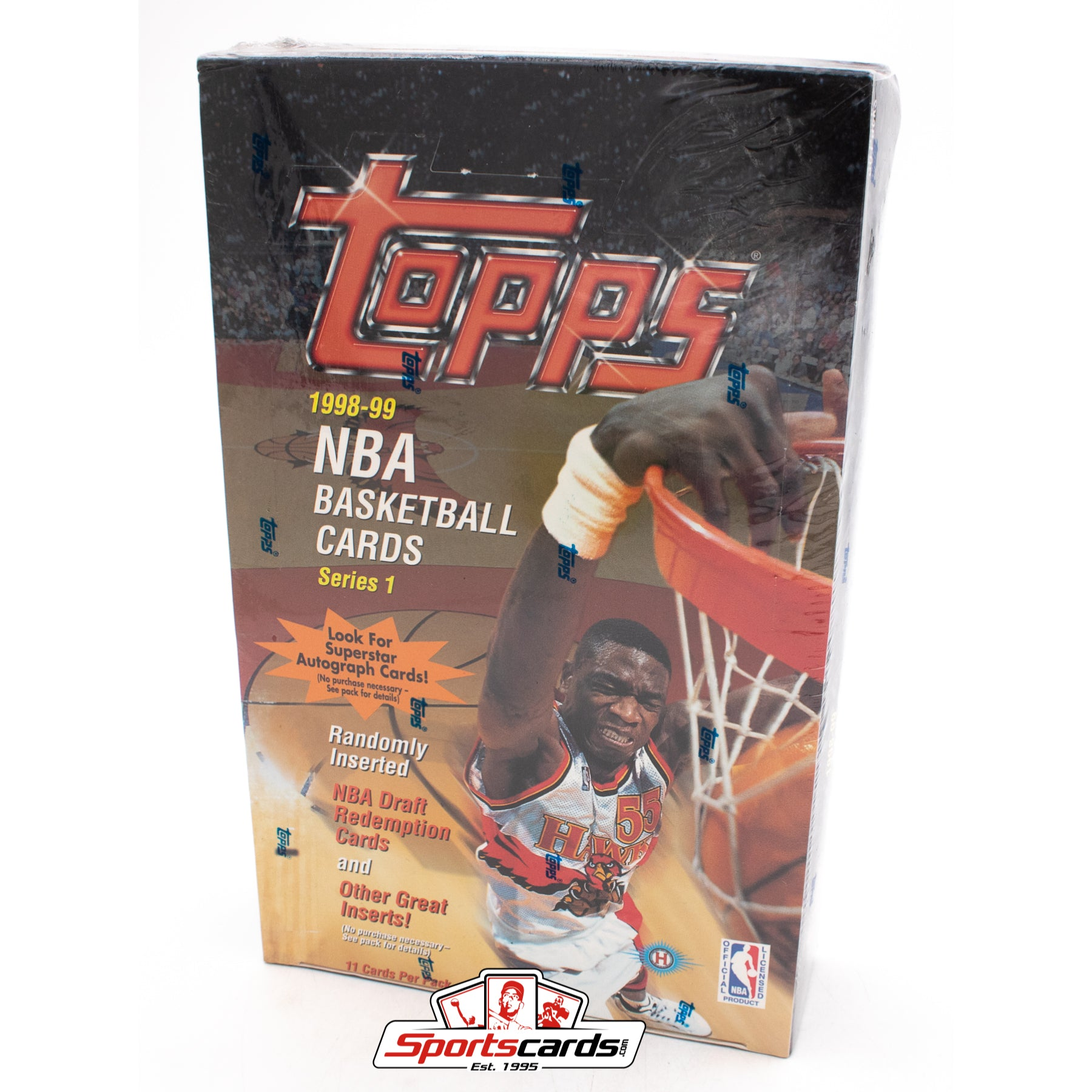 1998-99 Topps NBA Basketball Series 1 Factory Sealed Hobby Box