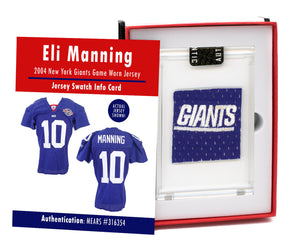 Eli Manning 2004 NY Giants Game Worn Jersey Mystery Swatch Box