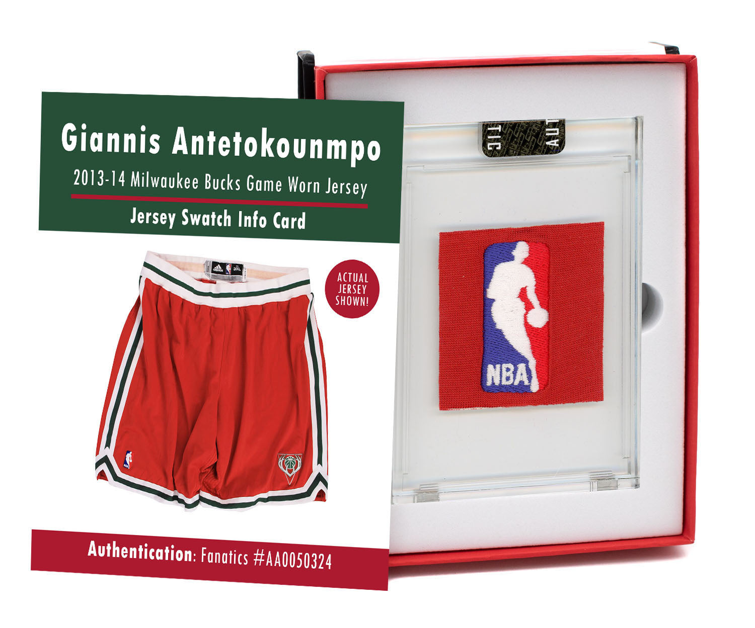 Giannis Antetokounmpo 2013-14 Bucks Game Worn Shirts Mystery Swatch Box