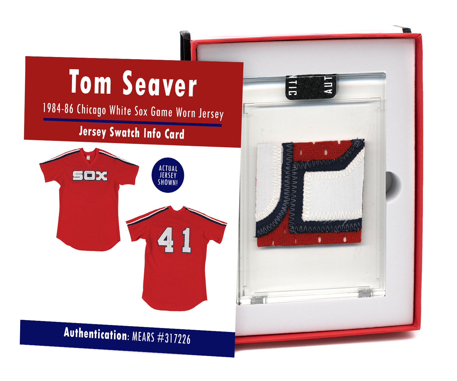 Tom Seaver 1984 White Sox Game Worn Jersey Mystery Swatch Box