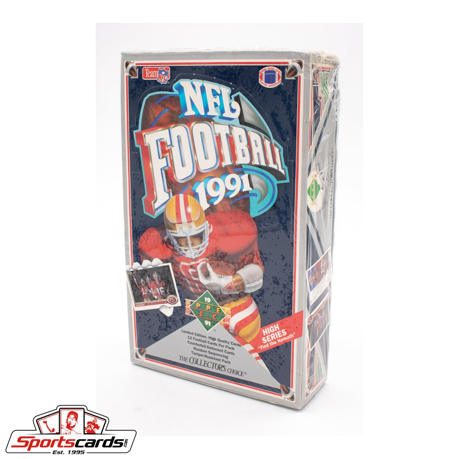 1991 Upper Deck Football Factory Sealed High Series Box - Find the Namath Auto!