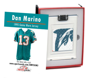 Dan Marino 1995 Miami Dolphins Game Worn Jersey Mystery Swatch Box