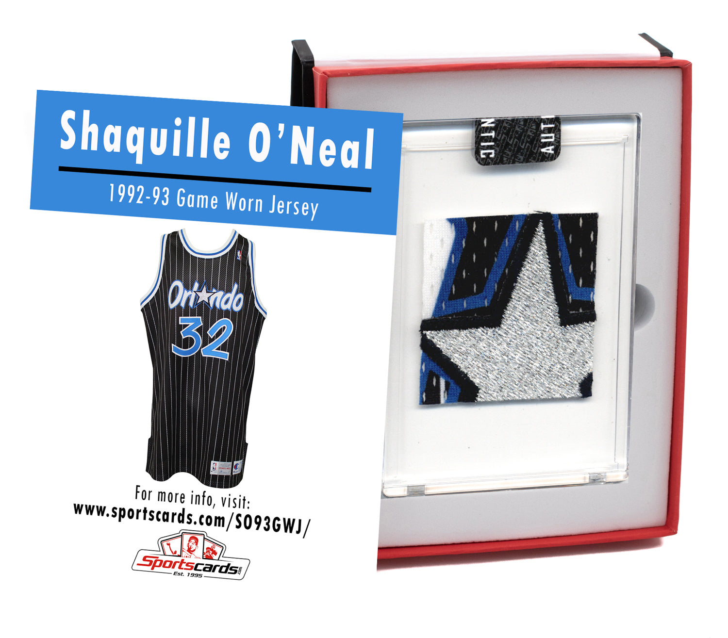 Shaquille O'Neal 1992-93 Rookie Year Game Worn Jersey Mystery Sealed Swatch Box