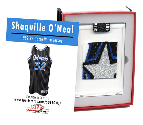 Shaquille O'Neal 1992-93 Rookie Year Game Worn Jersey Mystery Swatch Box