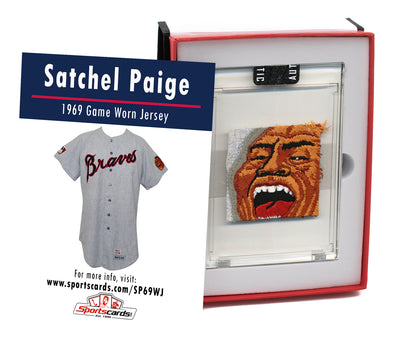 Satchel Paige 1969 Atlanta Braves Game Worn Jersey Mystery Swatch Box