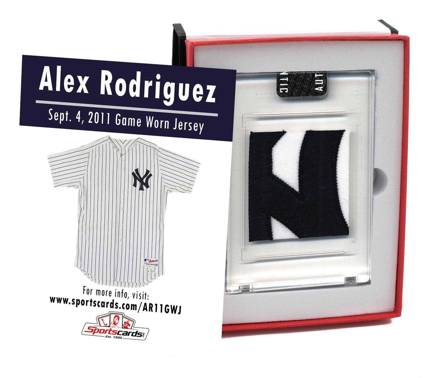 Alex Rodriguez 2011 NY Yankees Game Worn Jersey Mystery Sealed Swatch Box