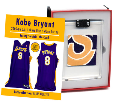 Kobe Bryant 2005-06 L.A. Lakers Game Worn Jersey Mystery Swatch Box