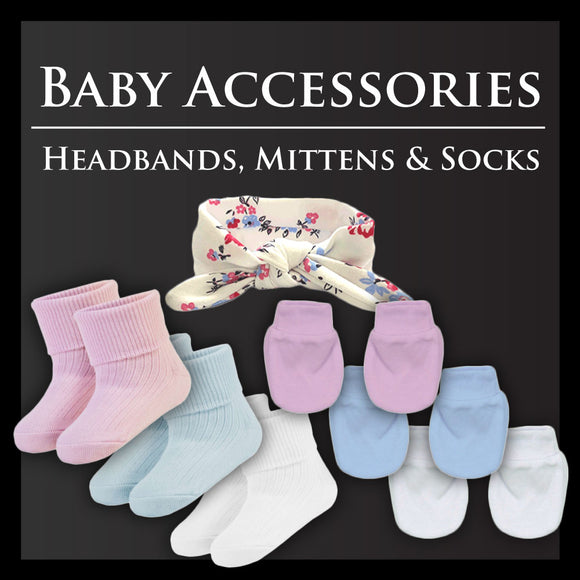 Baby Accessories | Headbands, Socks & Mittens | From £2