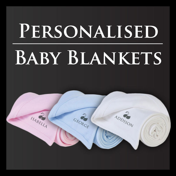 Personalised Baby Blankets | From £16 | Free Gift Box