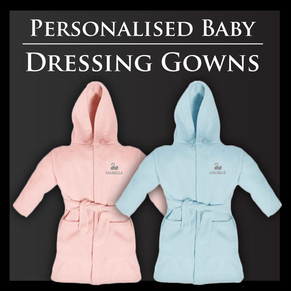 Personalised Baby Dressing Gowns | Free Gift Box | From £20