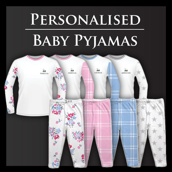 Personalised Baby Pyjamas | Free Gift Box | From £18