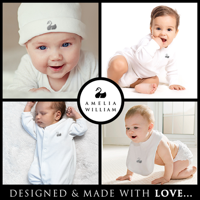 Personalised Baby Clothes by Amelia William, design and made with love...