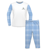 Personalised Baby Pyjama Set Classic Check Blue
