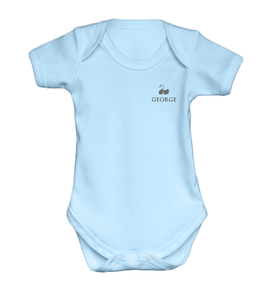 Personalised Baby Vest | Bodysuit | Short Sleeve Blue