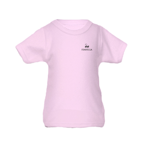 Personalised Baby T-Shirt - Short Sleeve Classic Pink