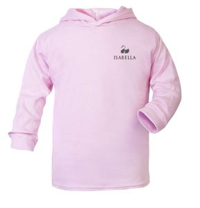 Personalised Baby Cotton Hoodie Classic Pink