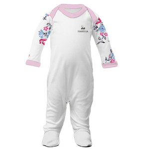 Personalised Baby Grow | Sleepsuit | Floral