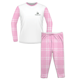 Personalised Baby Pyjama Set Classic Check Pink