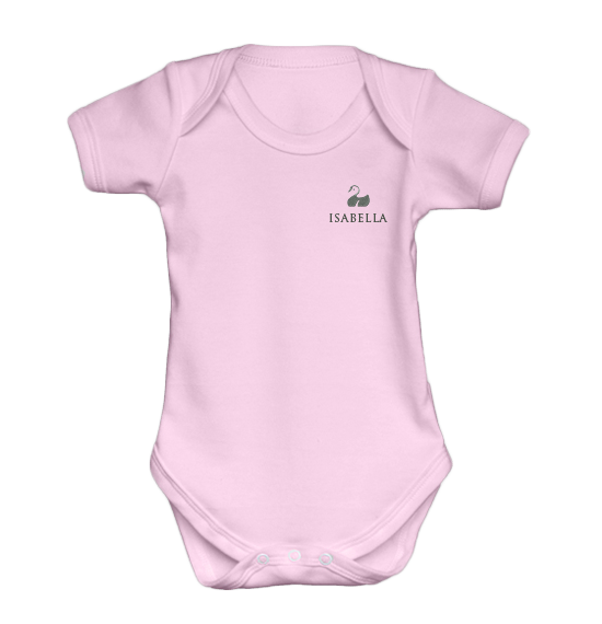 Personalised Baby Vest | Bodysuit | Short Sleeve Pink