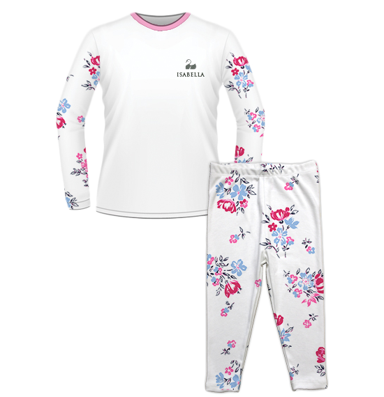 Personalised Baby Pyjama Set Floral