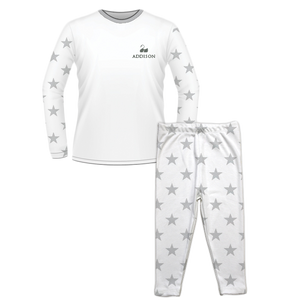 Personalised Baby Pyjama Set Classic Star Grey