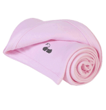Why not Personalise an Amelia William Baby Blanket – Super-soft Classic Pink Cotton for Girls