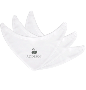 Personalised Baby Bibs | Bandana Velcro | Pack of 3 | Classic White
