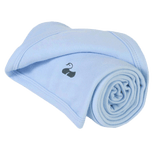 Why not Personalise an Amelia William Baby Blanket – Super-soft Classic Blue Cotton for Boys