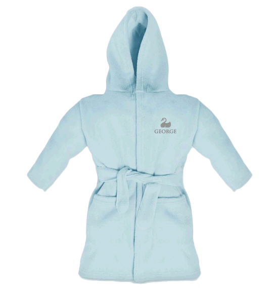 Personalised Baby Dressing Gown | Classic Light Blue