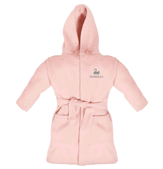 Personalised Baby Dressing Gown | Classic Pink