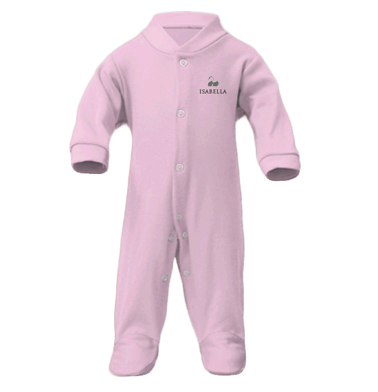 Personalised Baby Grow | Sleepsuit | Classic Pink