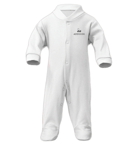 Personalised Baby Grow | Sleepsuit | Classic White