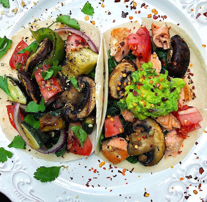 salmon veggie taco recipe